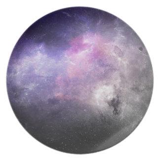 Raum-Platte 4 - lila Nebelfleck Essteller