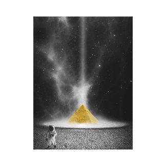 Raum-Pyramide Leinwanddruck