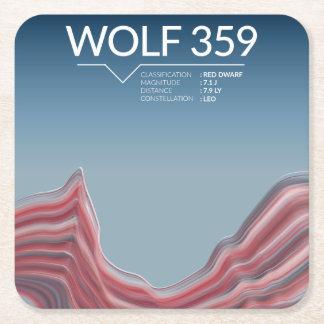 Raum-Untersetzer des Wolf-359 Rechteckiger Pappuntersetzer