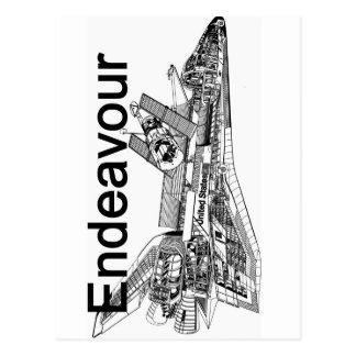 Raumfähre-Bemühung Postkarte