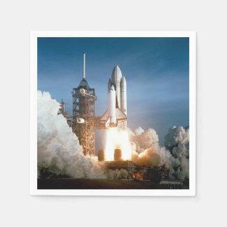 Raumfähre Kolumbien startet weg Servietten