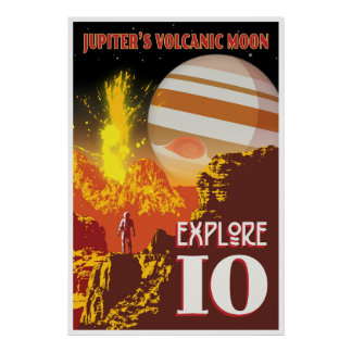 Raumfahrt-Illustration Jupiters Io Poster