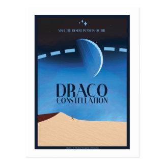 Raumfahrt-Postkarte - Draco-Konstellation Postkarte