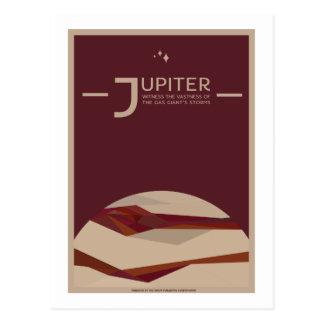 Raumfahrt-Postkarte - Jupiter Postkarte