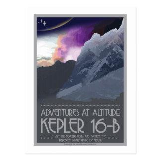 Raumfahrt-Postkarte - Kepler 16 b Postkarte