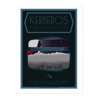 Raumfahrt-Postkarte - Kerberos Postkarte