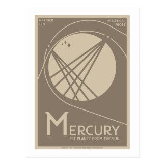 Raumfahrt-Postkarte - Mercury Postkarte