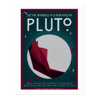 Raumfahrt-Postkarte - Pluto Postkarte