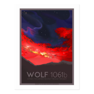 Raumfahrt-Postkarte - Wolf 1061b Postkarte