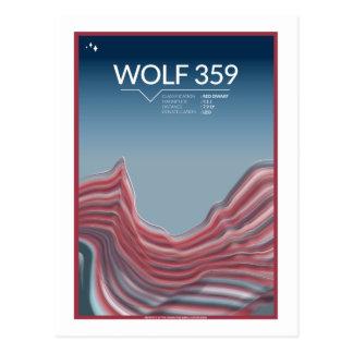 Raumfahrt-Postkarte - Wolf 359 Postkarte