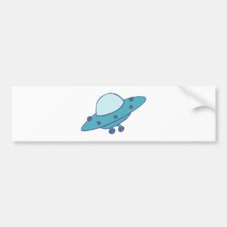 Raumschiff fliegende Untertasse UFO Autoaufkleber