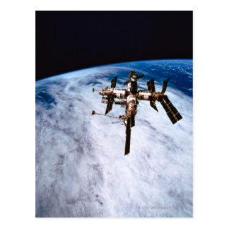 Raumstation in Bahn 11 Postkarte