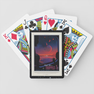 Raumtourismusanzeige des Planeten 1e des Bicycle Spielkarten