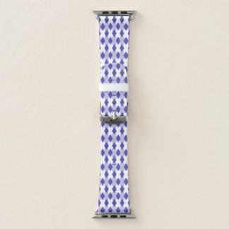 Raute kariertes Pattern_4A46B0 Apple Watch Armband