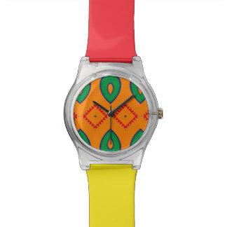 Raute und andere formt abstrakten Entwurf Uhr
