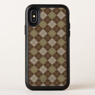Rauten-Muster OtterBox Symmetry iPhone X Hülle