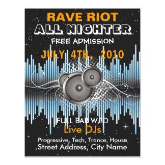 Rave-Aufstand-Musik-Flyer
