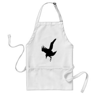 Raven einen Halloween-Raubvogel Schürze