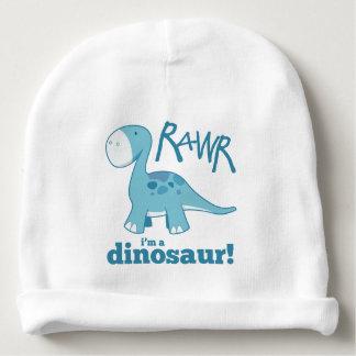 RAWR bin ich ein Dinosaurierniedlicher blauer Babymütze