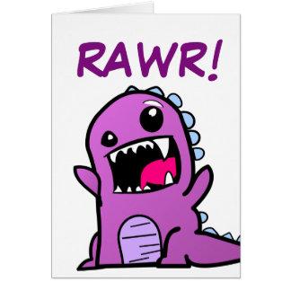 Rawr! Dinosaurier-alles- Gute zum Geburtstagkarte Karte