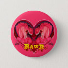 Rawr Liebe-ein-saurus Runder Button 5,1 Cm