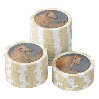 Rayure Arabe de crépuscule d'étalon de chance de Jetons De Poker