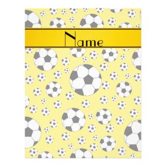 Rayure jaune d'amusement de ballons de football prospectus