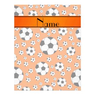 Rayure orange d'orange de ballons de football prospectus personnalisés