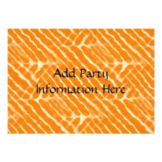 Rayure orange et blanche de zèbre invitation