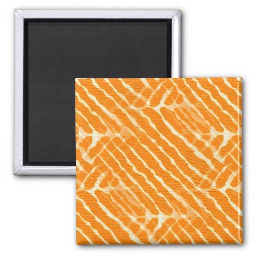 Rayure orange et blanche de zèbre magnets pour réfrigérateur