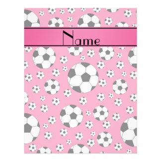 Rayure rose d'amusement de ballons de football prospectus en couleur