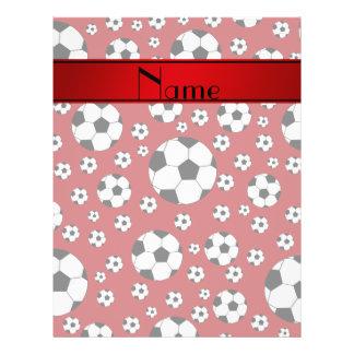 Rayure rouge de rouge de ballons de football prospectus