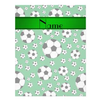 Rayure verte d'amusement de ballons de football tract customisé