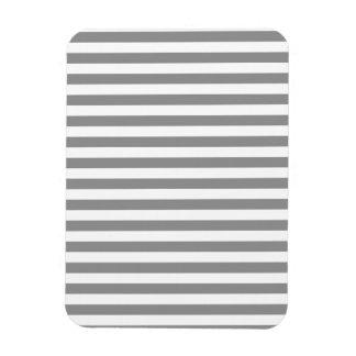 Rayures minces - blanc et gris magnets souples