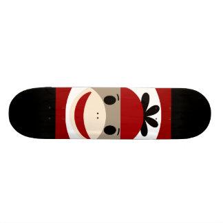 Rayures noires rouges de chaussette de singe de ch plateau de skate