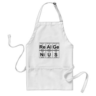 Re--Al-GE-Ni-U-s (wirkliches Genie) - voll Schürze