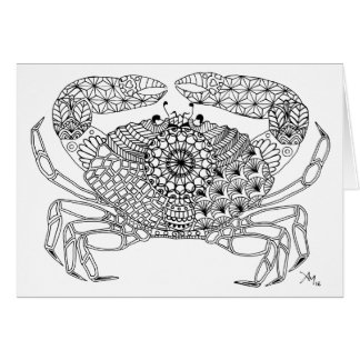 Ready to Farbe greeting card- Crab Karte