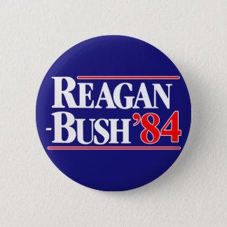 Reagan Bush 84 Runder Button 5,1 Cm