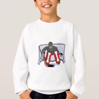 realistische Illustration des Eis-Hockey-Tormanns Sweatshirt