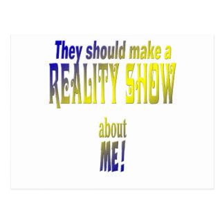 Reality Show Postkarte