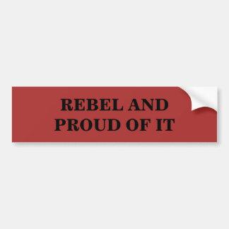Rebell und stolzes auf es autoaufkleber