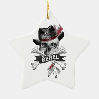 Rebellische Stammes- gotische Schädel-Verzierung Keramik Stern-Ornament