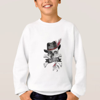 Rebellischer Stammes- gotischer Schädel - Kreuz Sweatshirt