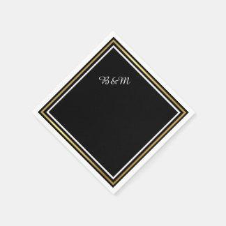 reception_party schwarzes einfaches der eleganten papierservietten