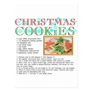 Recette de biscuits de Noël Carte Postale