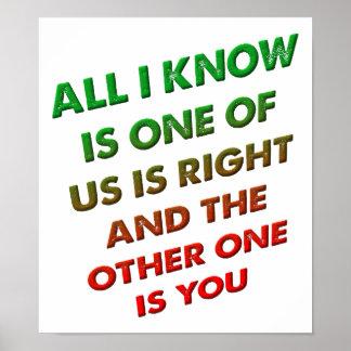 Recht und Sie lustiges Plakat