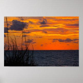 Recht vor Sonnenaufgang, Fort Pierce, Florida Poster