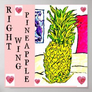 Rechte-Ananas (politische Frucht-Reihe). Poster