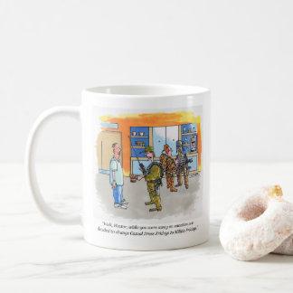 Rechte Cartoon-Tasse Miliz-Freitag Kaffeetasse