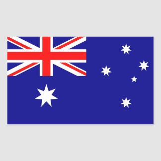 Rechteckaufkleber mit Flagge von Australien Rechteckiger Aufkleber